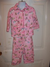Nick and Nora Pink 2 PC Snowman Pajama's Size 18 Months Girl's EUC - $17.01
