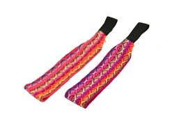 3 Pack Peruvian Original Ribbon Multicolored Hand Loomed Wool Blend Head... - $11.45