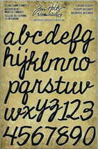Tim Holtz Cutout Script Cling Foam Alphabet/Numbers Stamps - 38 Pieces