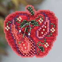 Jeweled Apple Autumn 2013 Seasonal ornament pin kit cross stitch Mill Hill - $6.30