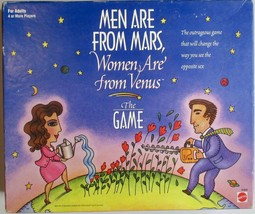 Mattel Men Are From Mars Women Are From Venus Trivia Board Game Adult Fu... - $19.79