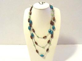 Beautiful necklace 3 strand signed Lia Shophia - $15.00