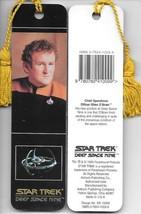 Star Trek Deep Space Nine O'Brien Photo Tasseled Laminate Bookmark 1993 UNUSED - $3.99