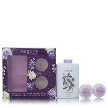 English Lavender by Yardley London Gift Set 7 oz Perfumed Talc + 2-3.5 oz Soap - $13.48
