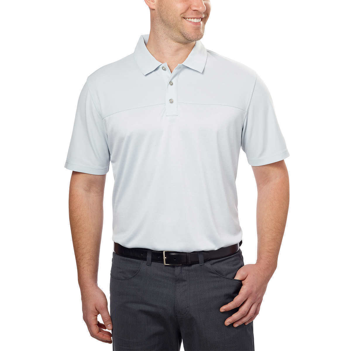 NEW Bollé Men's Color-block Performance Polo - Grey