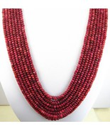7 Strands of Hand Cut Natural Red Ruby Rondelles Traditional Necklace ar... - $353.00
