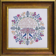 Botanical Blessings cross stitch chart Blue Ribbon Designs  - $12.60