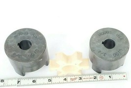 LOT OF 2 WOODS L100 3/4'' JAW COUPLINGS image 2