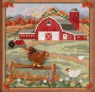 Country Morning 2013 Country Lane Series beaded button kit Mill Hill