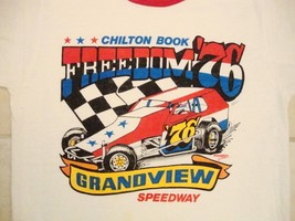Vintage Chilton Book Freedom '76 70' Funny Cars Racing Races Ringer T Shirt S - $34.64