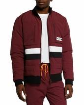 $250 Men's Puma Parquet Quilted Puffer Jacket Burgundy Black Size XXL 59... - $149.99