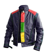 Mens michael jackson style red black leather11fdfd thumbtall