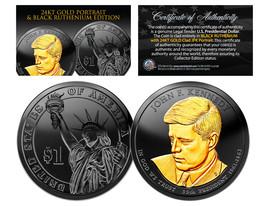 Black RUTHENIUM John Kennedy 2015 Presidential $1 Dollar Coin 24K Enigma... - $19.75