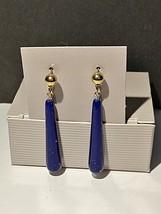 AVON Sleekly Elegant Earrings Look of Lapis NIP NOS - $9.99