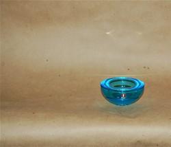 Iittala Finland Ballo Glass Votive Candle Holder Turquoise Blue - $12.00