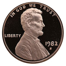 1982-S Lincoln Memorial Cent Penny Gem Proof US Mint Coin Uncirculated UNC - $7.99