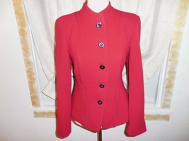 Armani Collezioni red 100% wool fitted  jacket sz 10 - $54.82