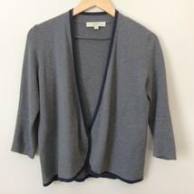 Ann Taylor Loft Petites 3/4 Sleeve Cardigan Sweater Size M Medium Gray Blue - $29.99