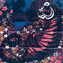 Hermes Scarf Stole Tiger Tiger by Alice Shirley Animal Floral Silk Carre... - $608.28