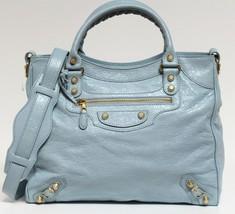New $1985 Balenciaga Velo Giant Blue Dragee Arena Classic Leather Messen... - $1,468.04