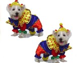 High Quality Dog Costume SHINY CLOWN COSTUMES Dogs As Colorful Circus Clowns