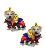 High Quality Dog Costume SHINY CLOWN COSTUMES Dogs As Colorful Circus Cl... - $34.54+