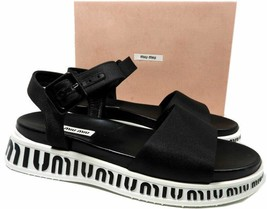 Miu Miu - Prada Run Sport Flat Sandals 39 Shoes Ankle Strap Shoes - $333.00
