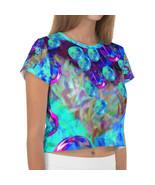 """Buoyant Blue Lights"", by Creative Devotions -  Ladies' Crop Tee Shirt - $38.50"