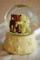 Dept 56 2000 I Love You Rudolf Light Up Snow Globe - $19.40