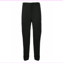 Neil Barrett Cotton Zip Cargo Pant Black MSRP $700 Size 50 - $302.73