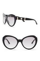 NEW AUTHENTIC VERSACE Cat Eye  Sunglasses Black/Gold 4306-Q GB1/11 - $120.32