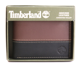 Timberland Men's Genuine Two Tone Leather Credit Card Billfold Commuter Wallet image 8