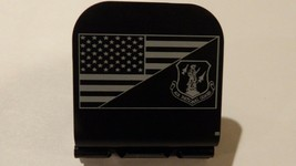 American Flag With Air National Guard Laser Etched Aluminum Hat Clip Bri... - $11.99