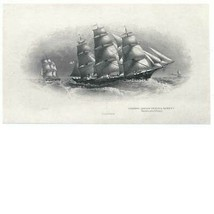 1870 Clipper Ship die proof vignette by British American Bank Note Company - $69.00