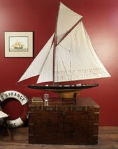 America's Cup Columbia 1901 Very Large Wooden Y... - $472.99