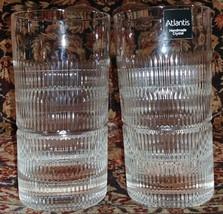"""2 Vista Alegre Atlantis Crystal Vendome 5.5"""" tall Tumblers Unused - $97.20"""