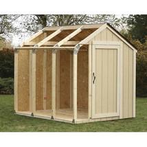 Outdoor Storage Shed DIY Building Kit Garden Utility Garage Tool Backyar... - $60.34