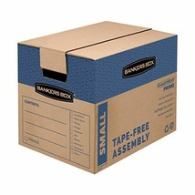 Bankers Box SmoothMove Prime Moving Boxes, Tape-Free, FastFold Easy Assembly, Ha - $54.99