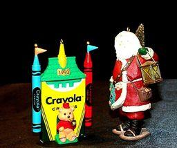 Hallmark Keepsake Ornaments Bright Shining Castle Crayola & Merry Olde Santa AA image 3