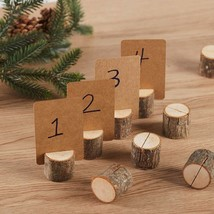 Wood Place Card Holders, 10Pcs Premium Rustic Table Number Holders and 2... - $26.97