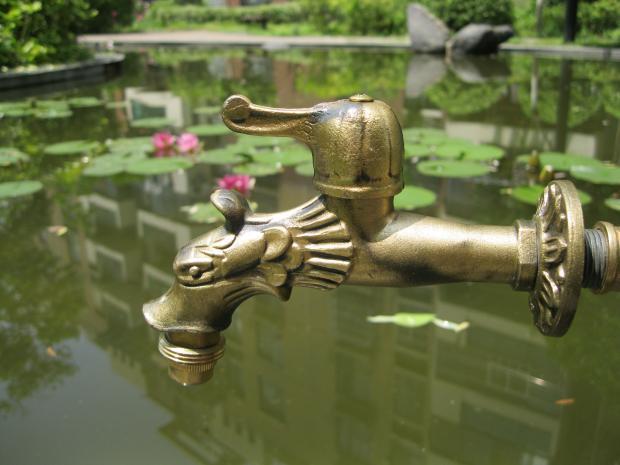 "5"" Vintage  Brass Bathroom single cold dragon faucets Garden Outdoor faucets"