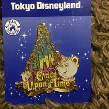 rare! Tokyo Disneyland Character once after a time Mrs. Potto & Chip Pin... - $58.41