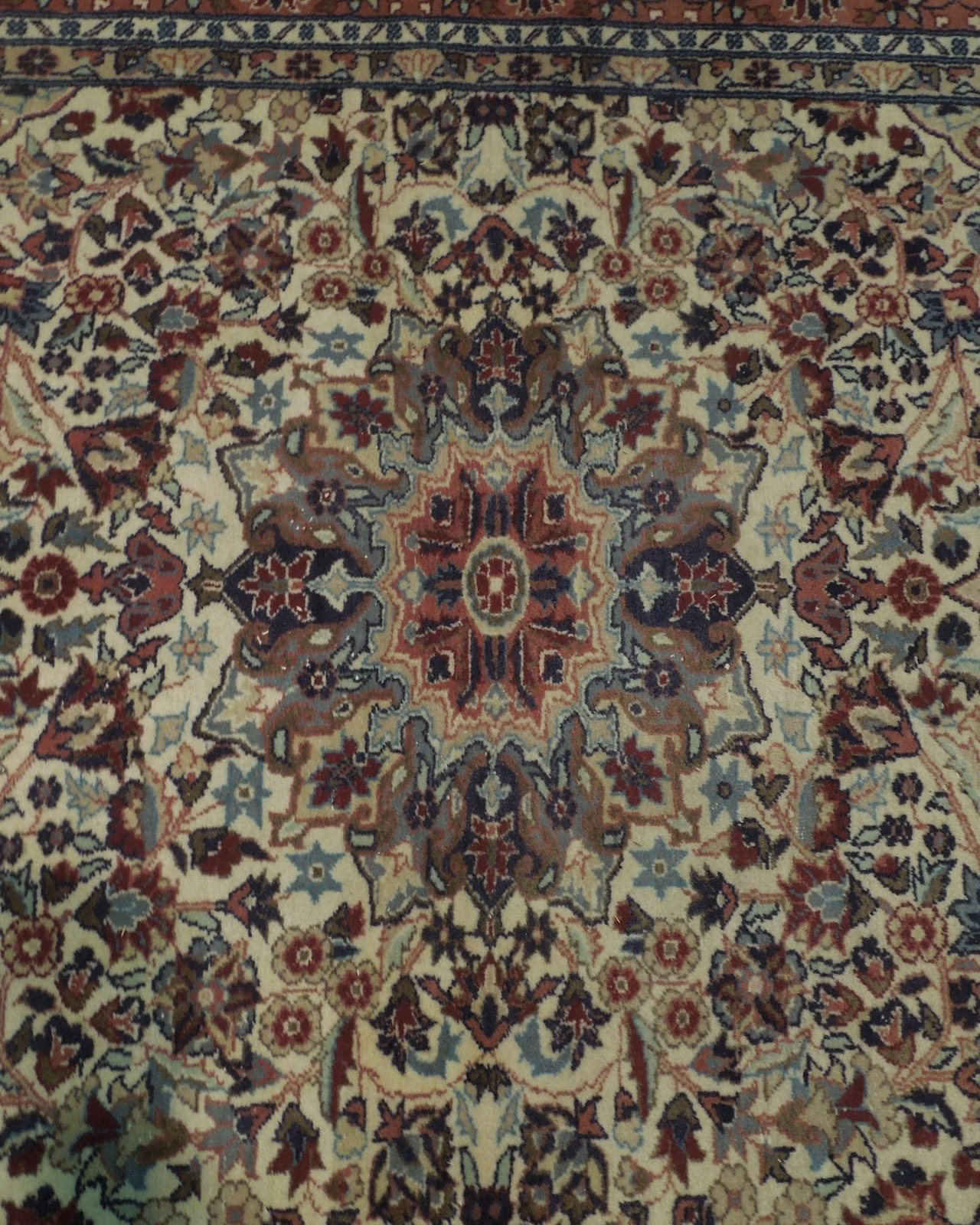 Ivory Wool Carpet 5 x 7 Fine Quality Reproduction Traditional Handmade Rug image 10