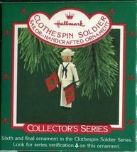 1987 - New in Box - Hallmark Christmas Keepsake Ornament - Clothespin Soldier  - $5.93