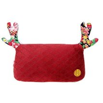 (Lovely Elk) Car Headrest/Car Neck Pillow ,China-red