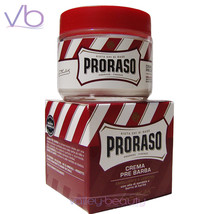PRORASO Red Pre Shave Cream For Thick Beard, Dry Skin, Sandalwood, Karit... - $11.50