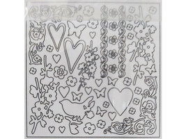 Creative Imaginations Blank Chipboard Shapes Felicity Collection, 144 Pieces image 2