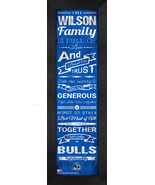 "Personalized University at Buffalo (SUNY) ""Family Cheer"" 24 x 8 Framed P... - $39.95"