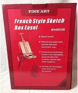 French Style Artist Sketch Box Easel Beechwood Folding Portable New - $69.95