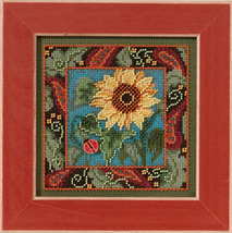 Sunflower 2013 Autumn Series beaded button kit Mill Hill - $11.70